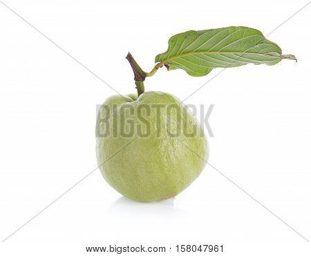 Closeup guava fruit isolated on white background