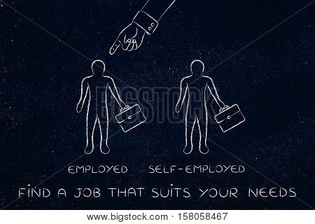 Way Of Working, Being Employed Chosen Over Self-employed