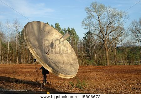 Satellite Dish in Field