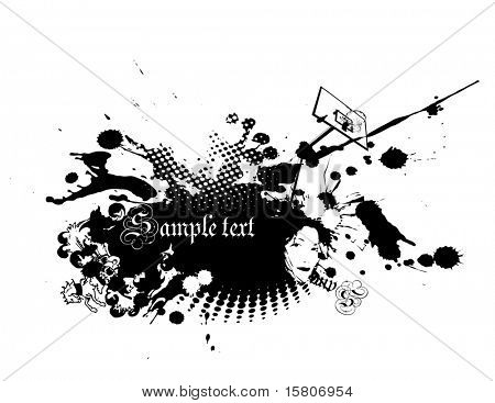 Abstract illustration on white background. Vector