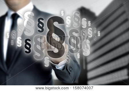 Paragraphs are selected by businessman background picture