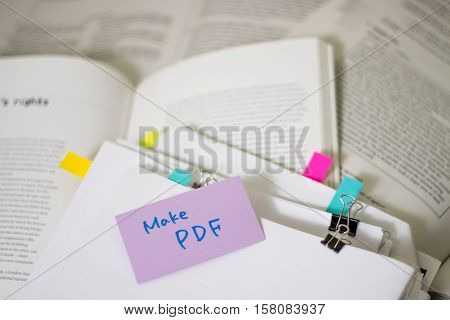 Mak Pdf; Stack Of Documents With Large Amount Of Reading Material.