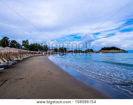 Sidari beach on northern part of Corfu Greek island
