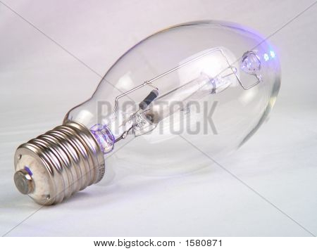 Mercury Vapor Bulb On White
