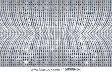 Futuristic vector backdrop and black binary code