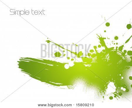 Green abstract illustration. Vector