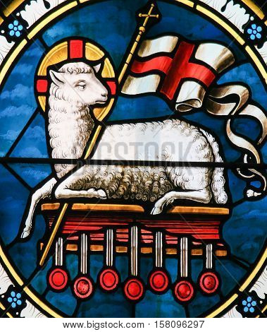 Agnus Dei - Lamb Of God - Stained Glass
