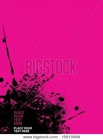 Abstract splash illustration on pink background and place for your text. Vector