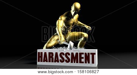 Eliminating Stopping or Reducing Harassment as a Concept 3d Illustration Render
