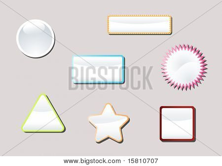 Colored labels with empty place for your text. Vector