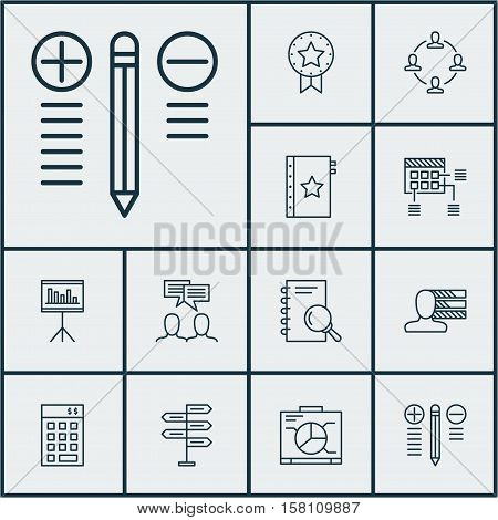 Set Of Project Management Icons On Presentation, Warranty And Schedule Topics. Editable Vector Illus
