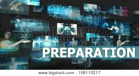 Preparation Presentation Background with Technology Abstract Art 3d Illustration Render