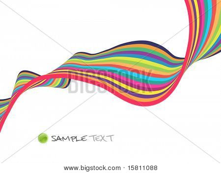 Colorful lines with place for text. Vector art.