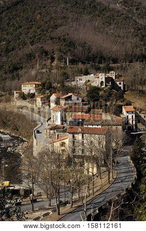 Village of Le Tech Languedoc Roussillon Pyrenees Orientales France