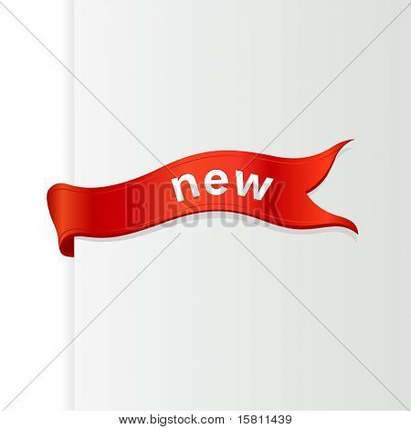 Ribbon with text. Vector art