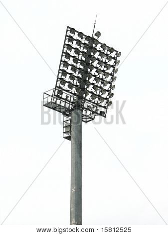 Big Spotlights Lighting Tower At An Stadium