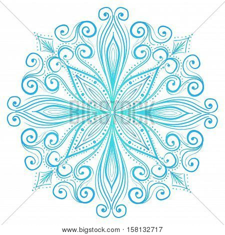 Mandala, Tribal Ethnic Ornament, Islamic Arabic Indian Pattern. Vector Illustration. Can Used for Design Element, Scrap Booking, Templates, Fabric, Flyer, Brochure