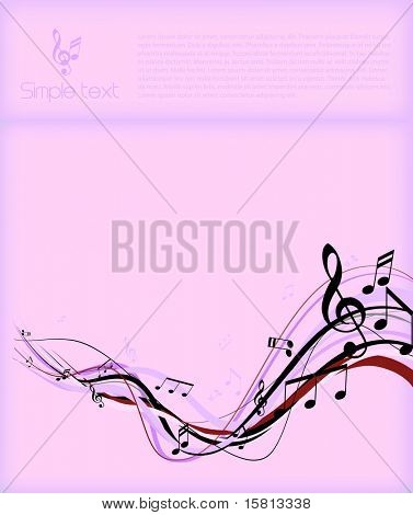 Abstract illustration with notes and place for your own text.