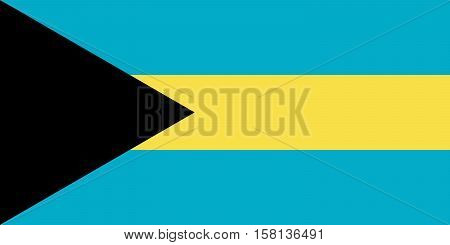 Official vector flag of Bahamas . Commonwealth of the Bahamas .