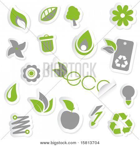 Set of ecology icons.