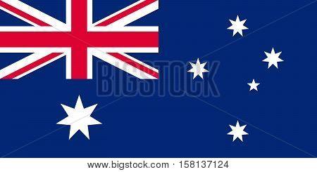 Official vector flag of Australia . Commonwealth of Australia .