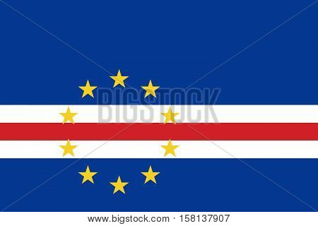 Official vector flag of Cape Verde ( Cabo Verde ) . Republic of Cabo Verde .