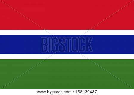 Official vector flag of The Gambia . Islamic Republic of The Gambia .