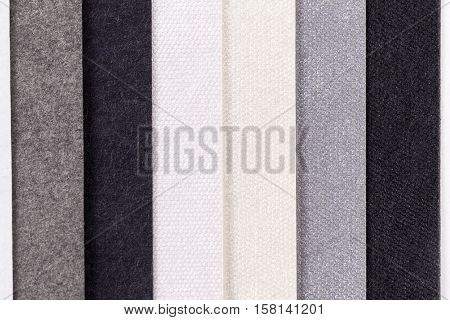 Background of colorful paper parallel vertical stripes
