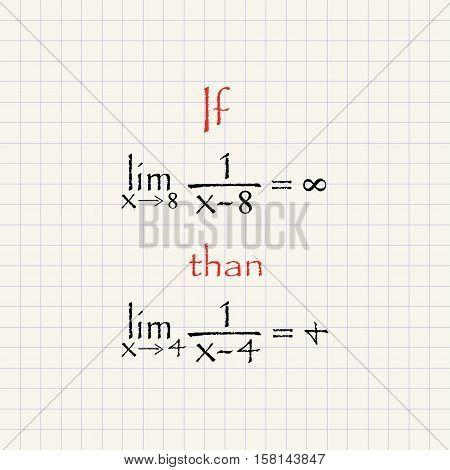 Math equation - funny inscription mathematical template