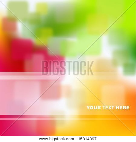Green, red and orange abstract background