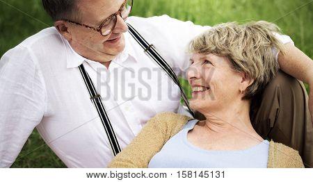 Elderly Senior Couple Romance Love