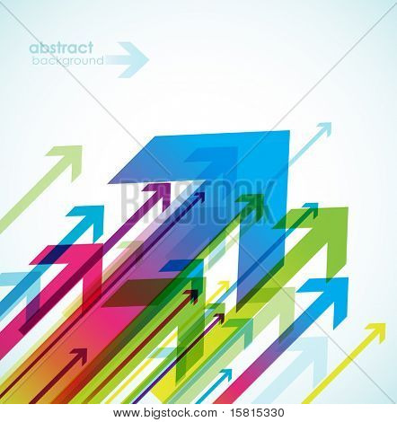 Resumen de antecedentes con flechas de color.