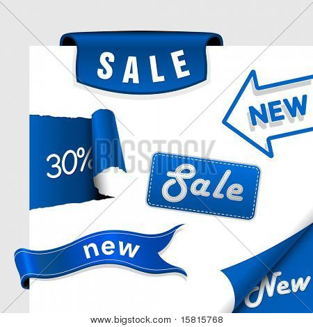 Conjunto de iconos de venta, etiquetas, pegatinas.