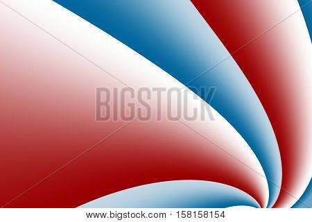 A red and blue fractal background with curves resembling a pinwheel. Includes space for text. Suitable for layouts web design leaflets book covers presentations or as a desktop background.