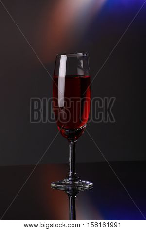 Luxury Red Wine In Champagne Flute