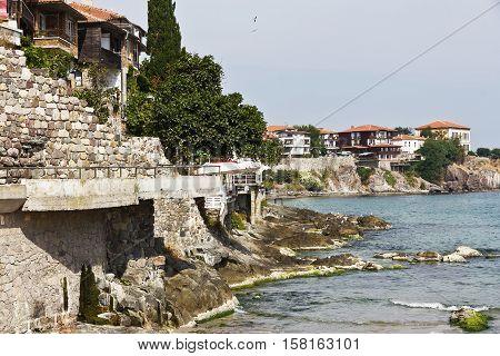 Rocks of the Black Sea.Old town Sozopol.Bulgaria