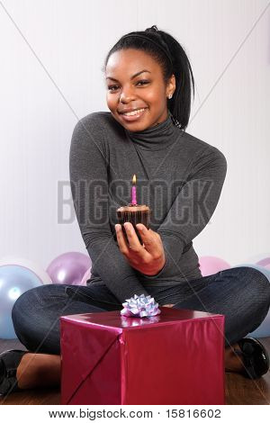 Chocolate Cream Birthday Cake For Young Woman