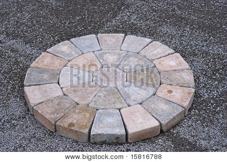 Patio Bricks Installation
