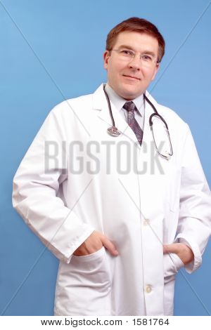 Family Doctor With Stethoscope