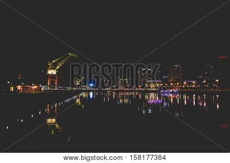 BUENOS AIRES, ARGENTINA: View of Puerto Madero, modern part of Buenos Aires.