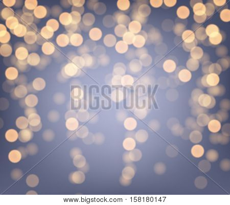 Festive purple and golden luminous background. Vector illustration.