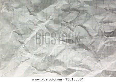 crumpled sheet of paper.the photo has a empty space for your text