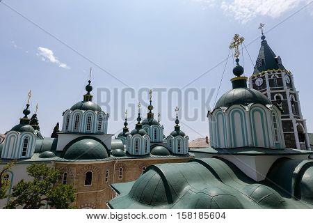 Russian St. Pantaleon Orthodox Monastery At Mount Athos