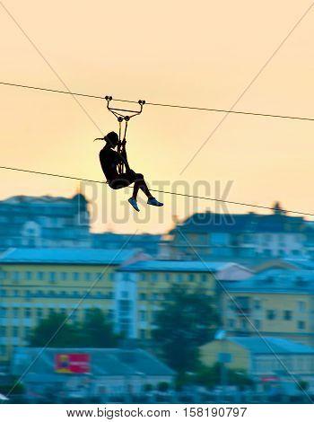 Urban Ziplining