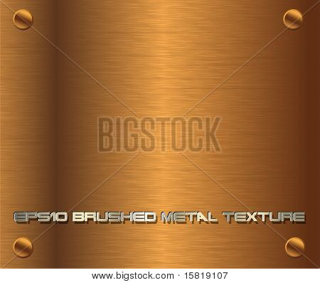 Vector brushed metal texture dark gold, EPS10