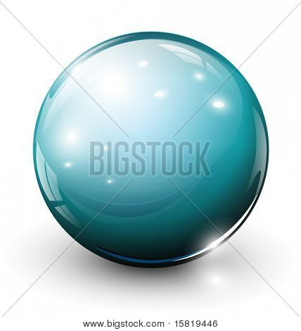 Vector glass sphere, ball