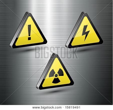 Warning signs set, vector