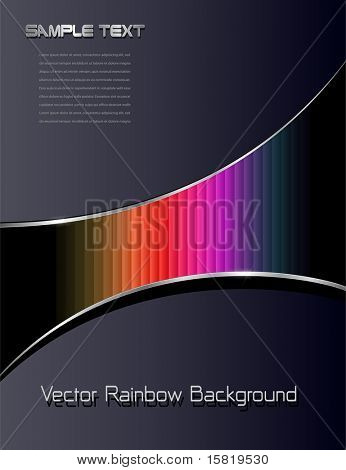 Abstract background with rainbow pattern, vector.