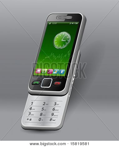 Mobile phone, smartphone, - original design, vector.