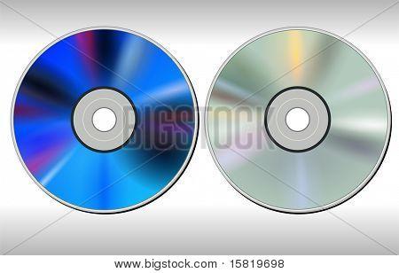 DVD CD disc, vector.